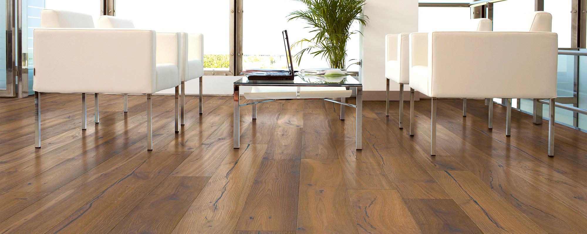 Variation Serie Design Eiche Variation geräuchert Weiß Style Flooring Parkett Dielen Köln