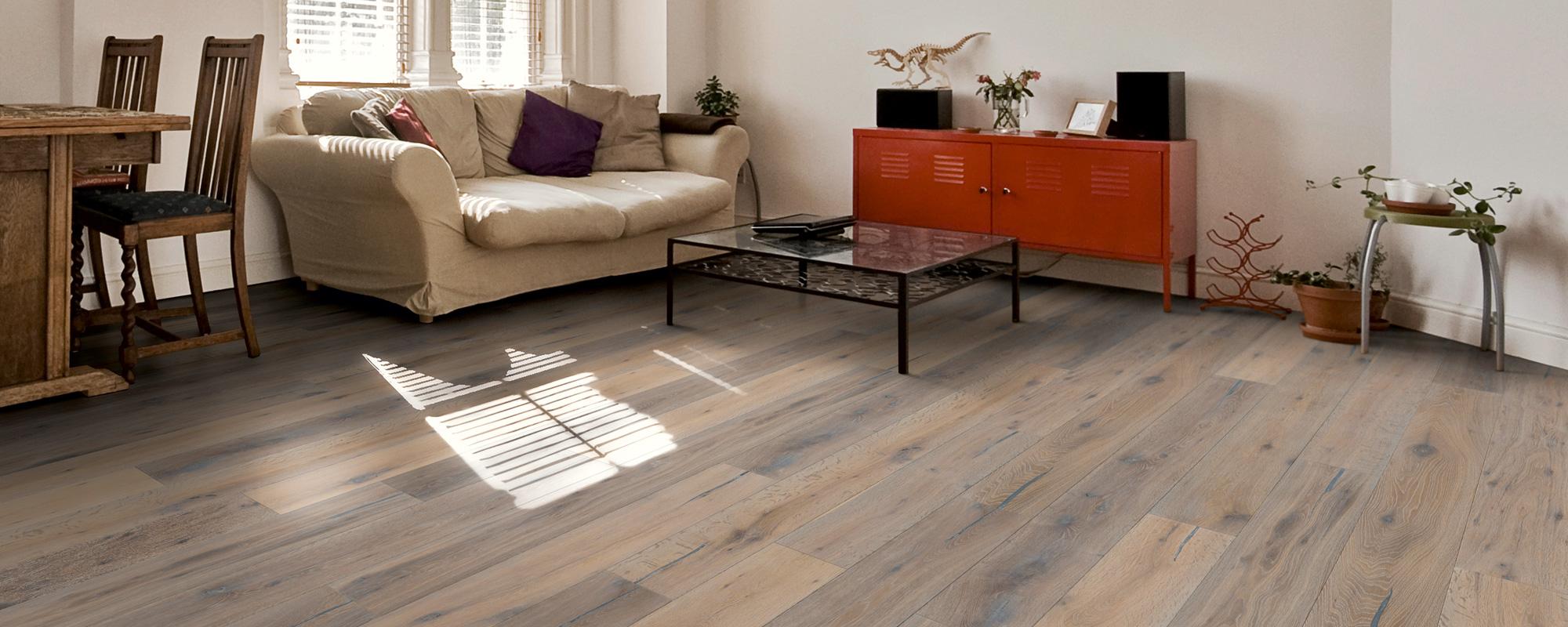Wildeiche Serie Wildeiche geräuchert Rustikal weiß Style Flooring Parkett Dielen Köln